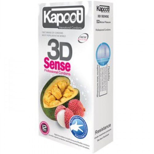 کاندوم کاپوت سه بعدی گرم خاردار حلقوی KAPOOT 3D SENSE-professional