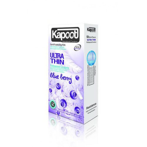 کاندوم کاپوت الترا ثین خیلی نازک بلوبری KAPOOT Ultra Thin Proffesional Blueberry