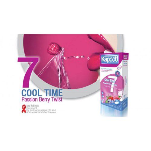 کاندوم تاخیری کاپوت 7 کاره خنک Kapoot Cool time passion berry twist 7