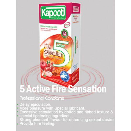 کاندوم تاخیری کاپوت 5 کاره گرم Kapoot Fire sensation 5