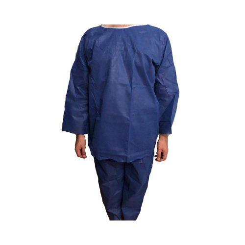 لباس MRI ام آر آی بیمار یک بار مصرف (پیراهن - شلوار - کلاه)